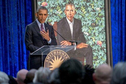 Вглобальной паутине высмеяли официальный портрет экс-президента США Барака Обамы