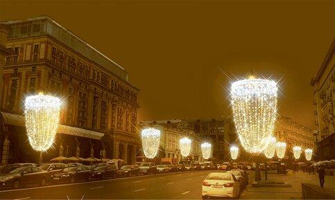 Неменее 60 фонарей наТверской улице превратят всветящиеся кубки