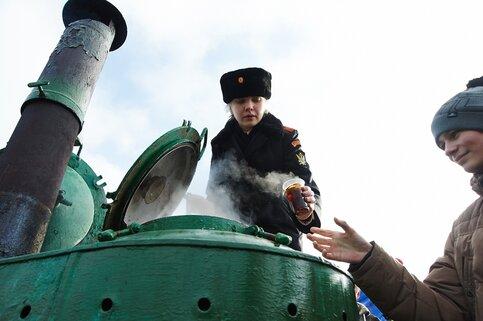 МЧС вморозы накормит жителей столицы горячей кашей